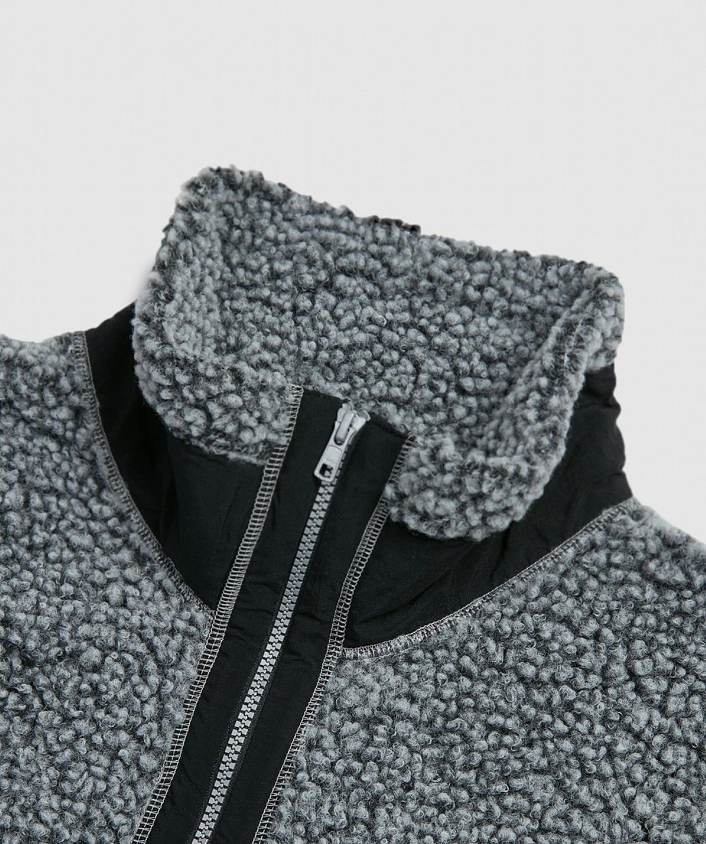 Grey Quarter Zip Fleece Jacket