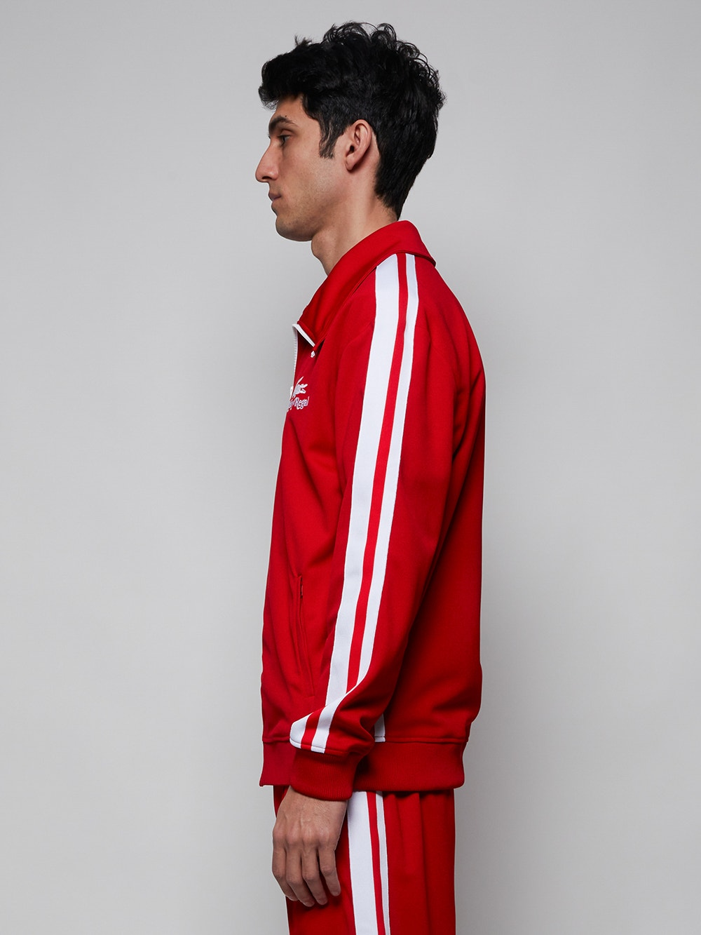 Red White x Ricky Regal Contrast Bands Piqué Zip Jacket