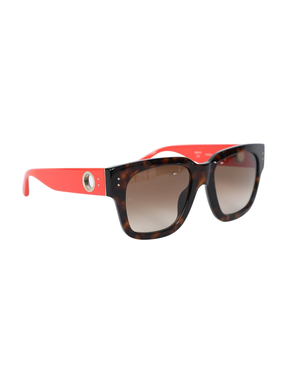Brown Amber D-Frame Squared Sunglasses