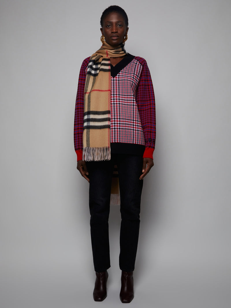 Multi Iconic Plaid Print Scarf