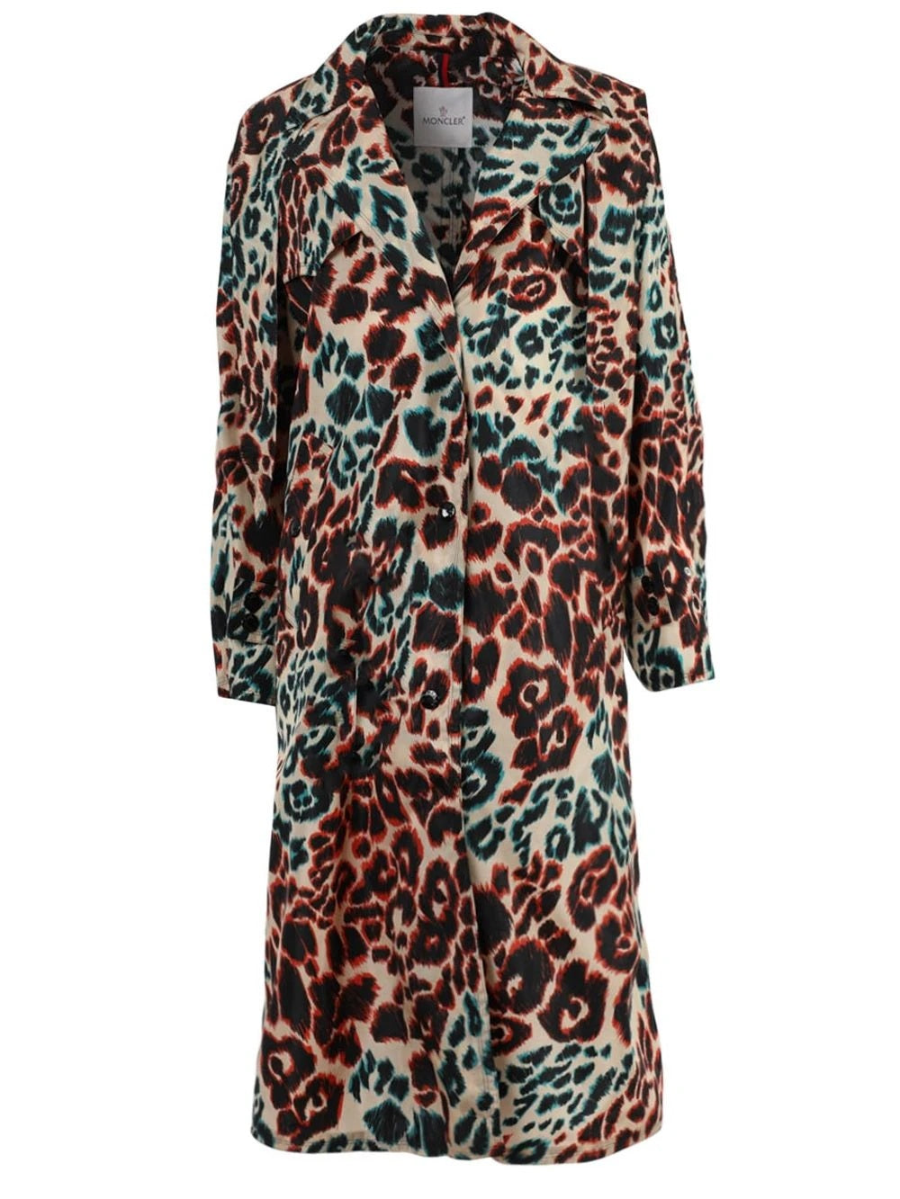 Multi Leopard Print Long Coat