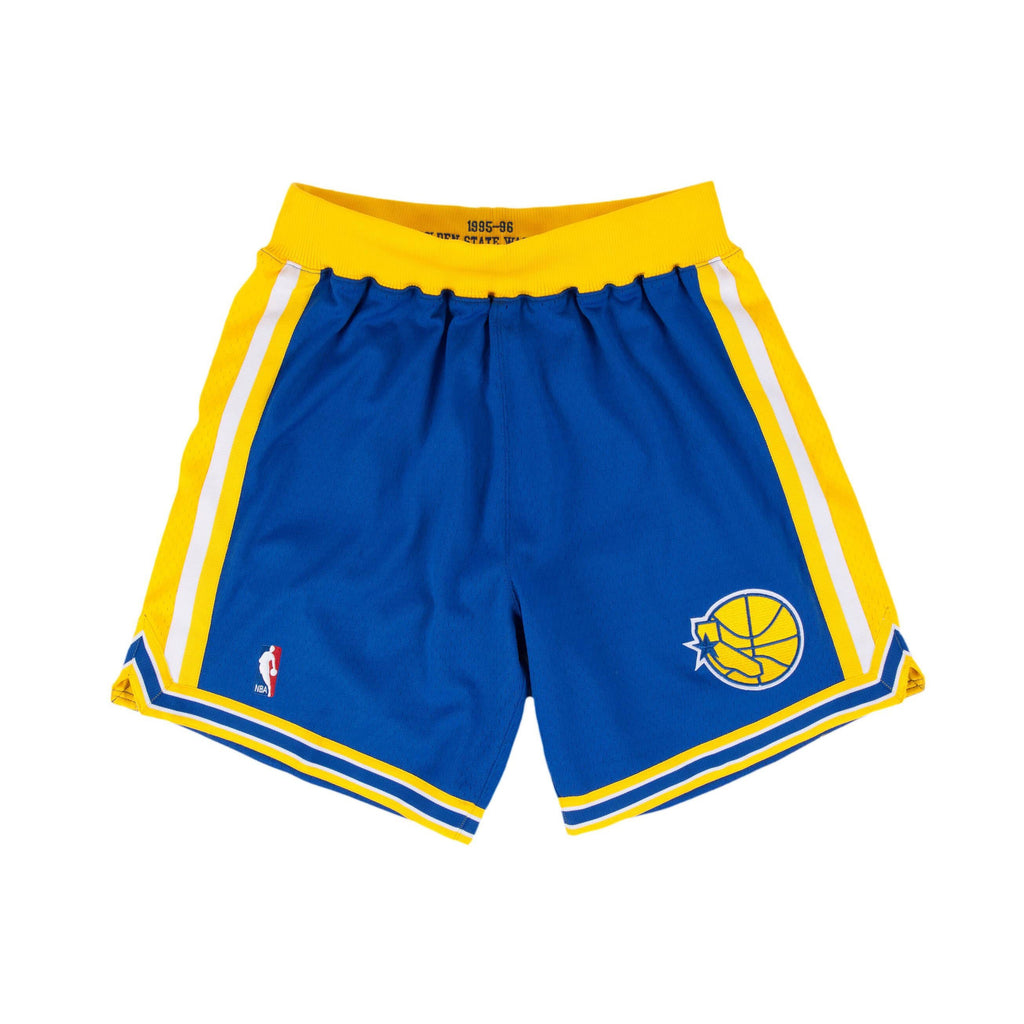 Blue & Yellow NBA Authentic Golden State Warriors Shorts
