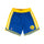 Blue & Yellow NBA Authentic Golden State Warriors Shorts thumbnail 1