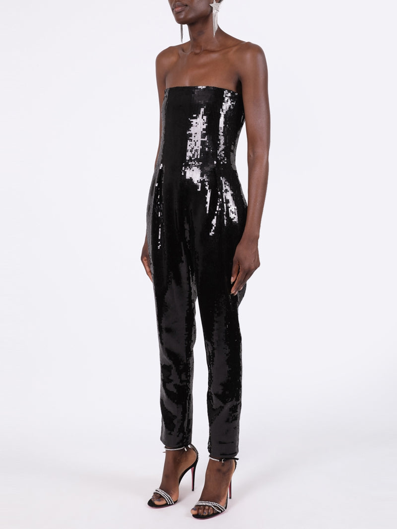 Black Sequined Jumpsuit