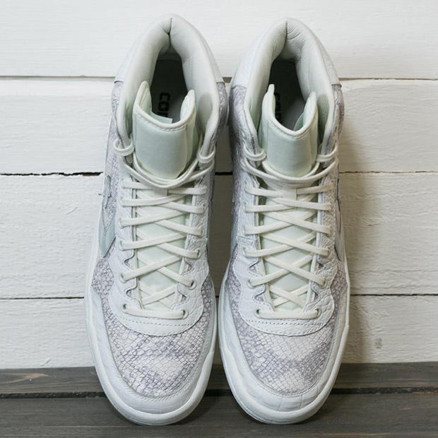 White Fastbreak Hi Snake Sneakers