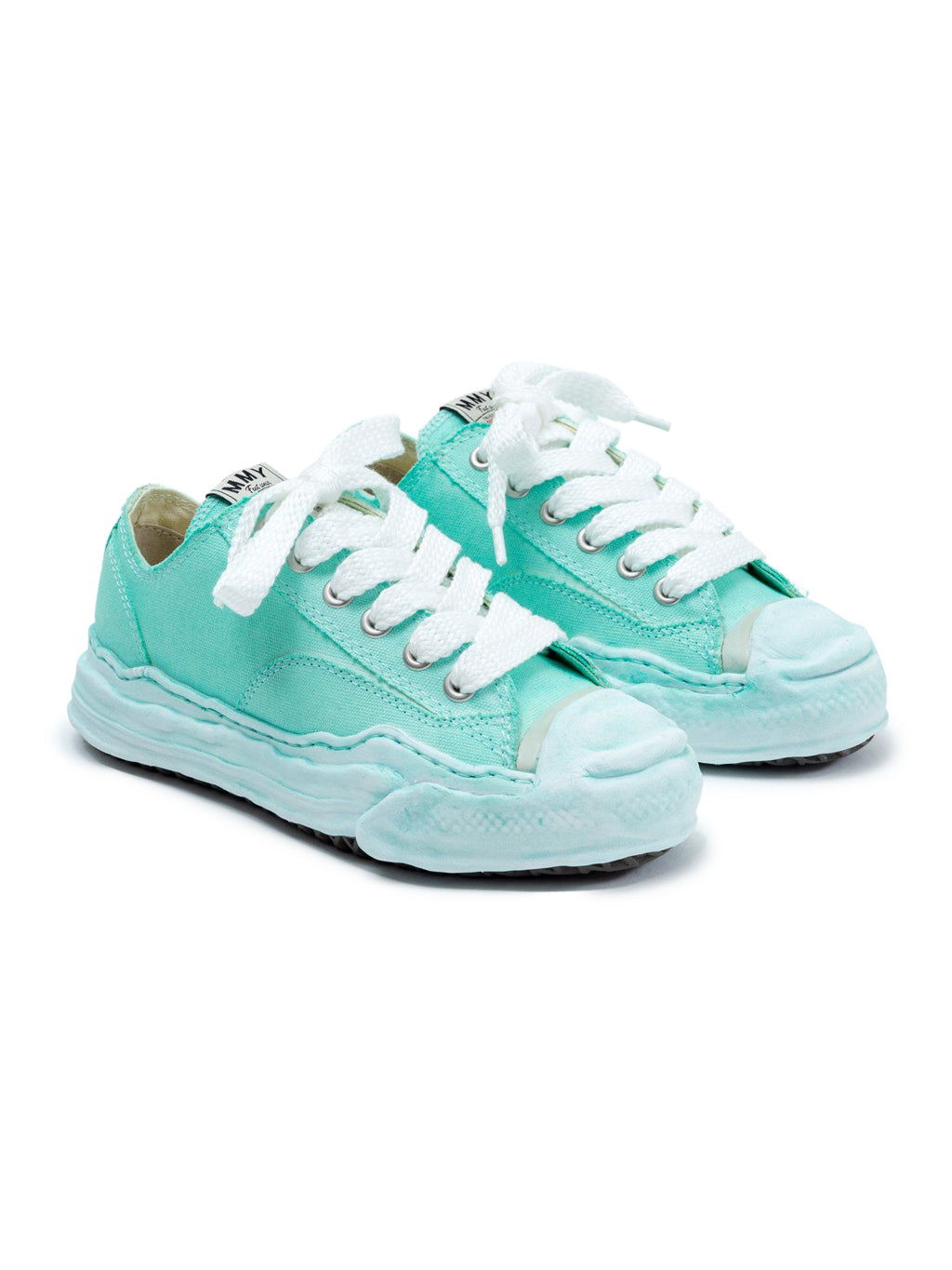 Green Original Sole Toe Cap Low Cut Sneakers
