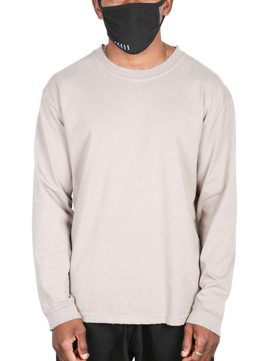 Beige Modern Long Sleeve T-Shirt