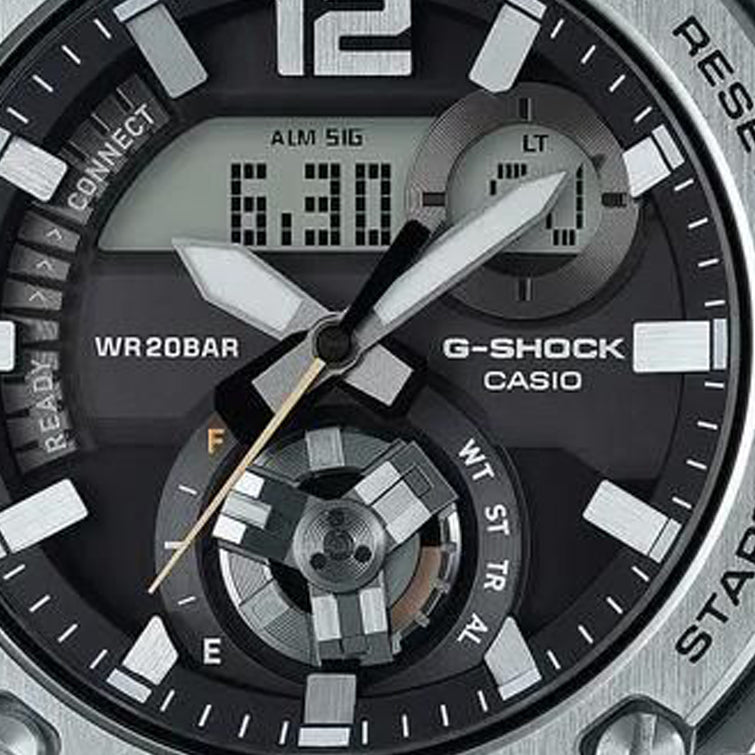 Silver G-Shock G-Steel Carbon Core Guard Watch