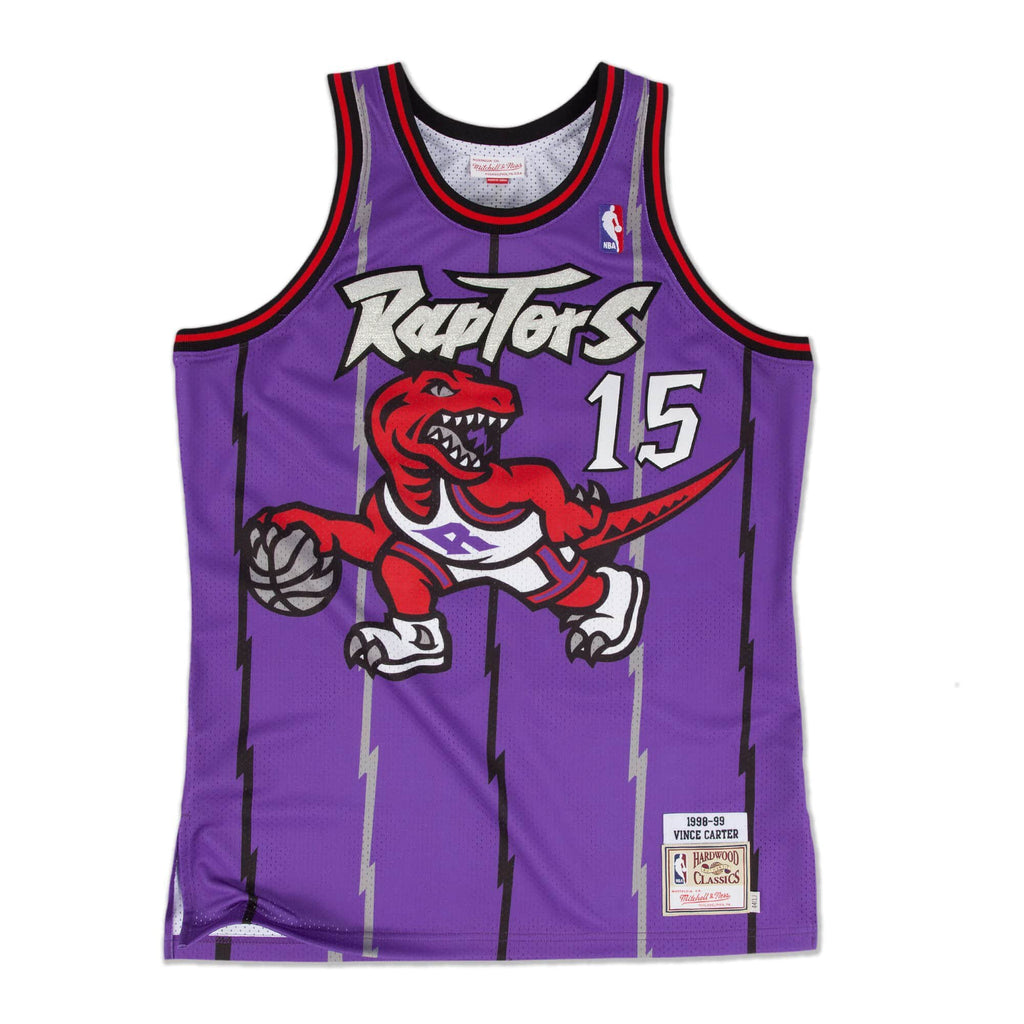 Purple NBA Swingman Jersey Toronto Raptors Vince Carter T-Shirt