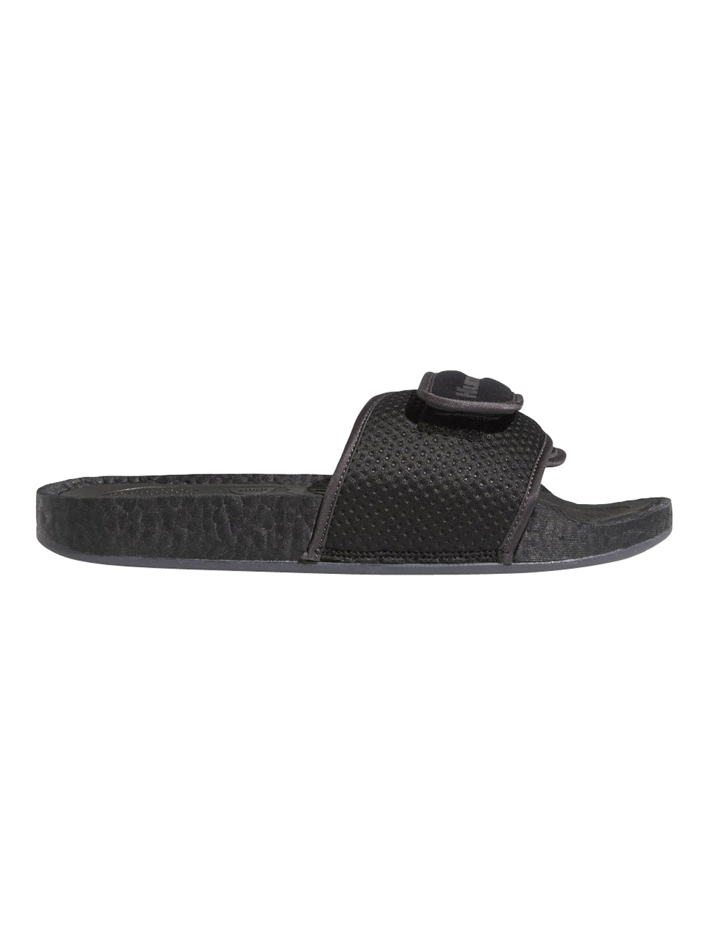 Black Adidas x Pharrell Williams Chancletas HU Slides