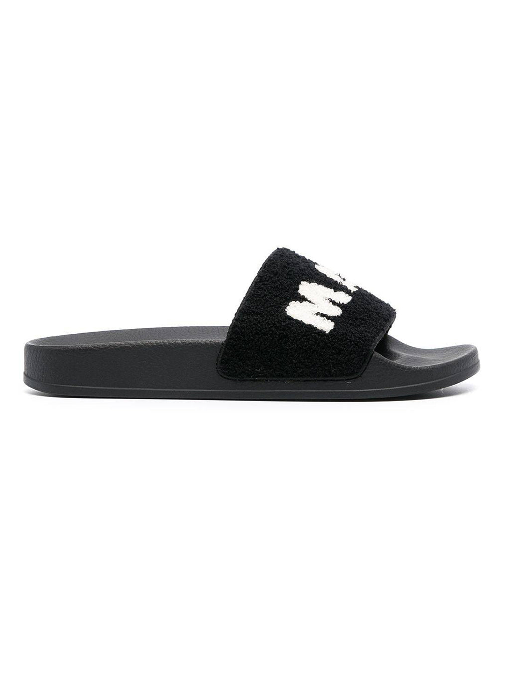 Black Terry Cloth Rubber Sandal