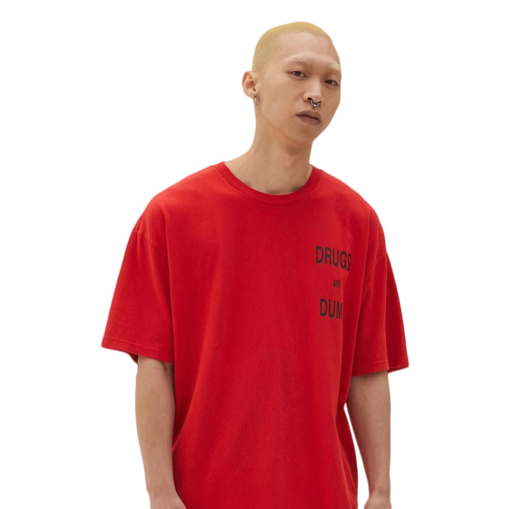 Red Drugs Aer Dumb Short Sleeve Nitro T-Shirt