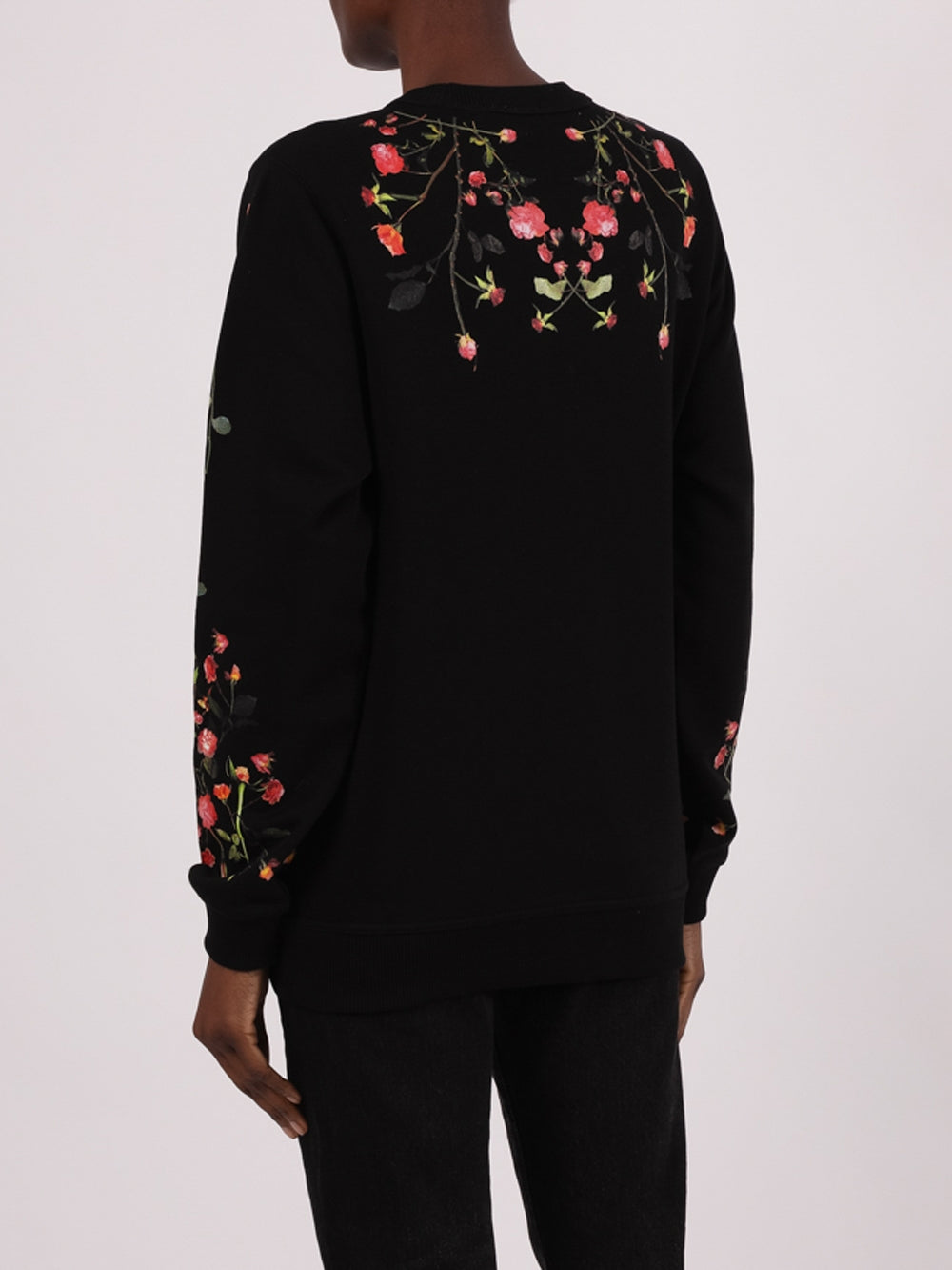 Black Fairhall Flowers Pullover Sweater