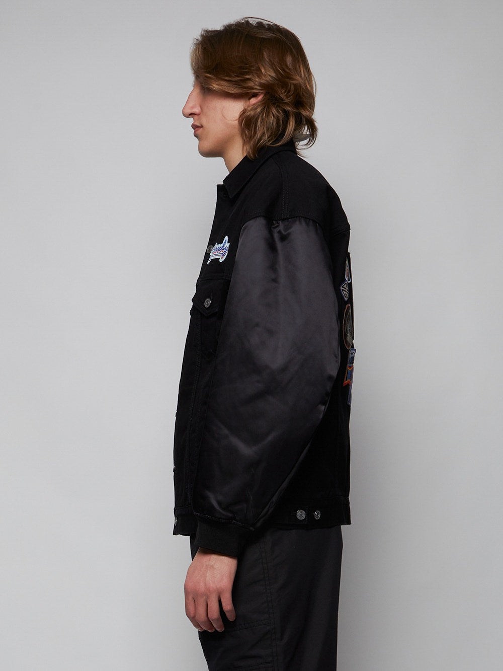 Black Oversized Motel Blouson Jackets
