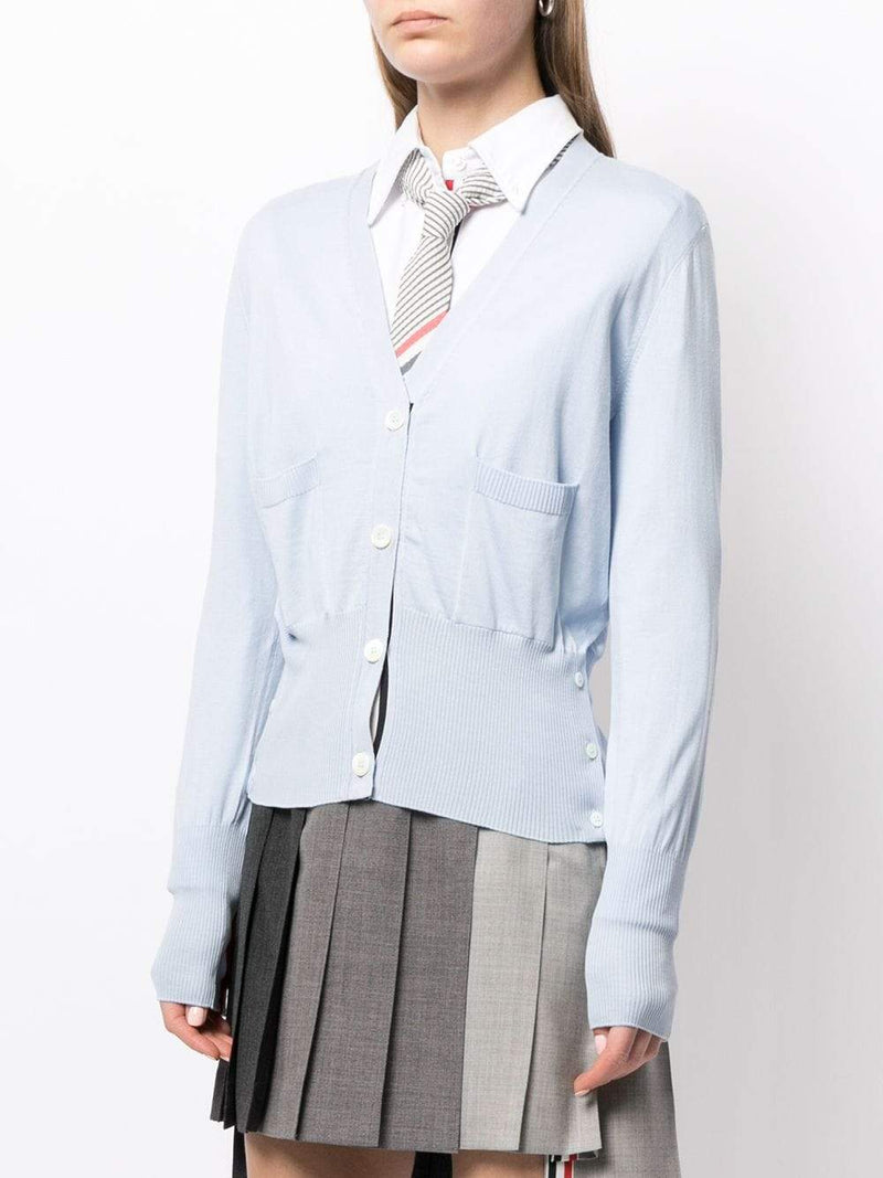 Light Blue  V Neck Cardigan