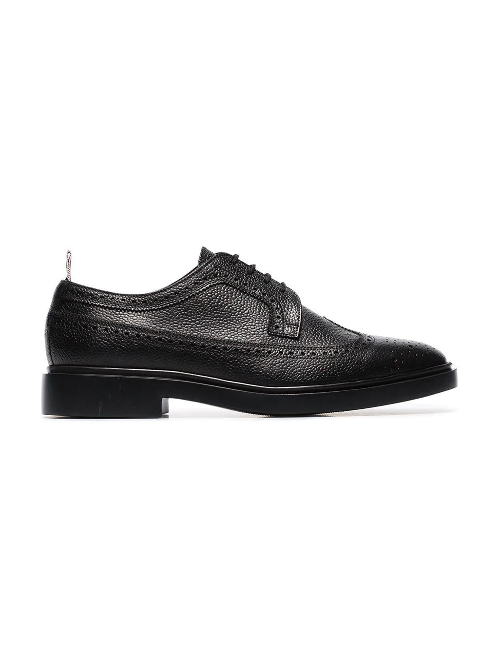 Black Leather Classic Longwing Brogues Shoes