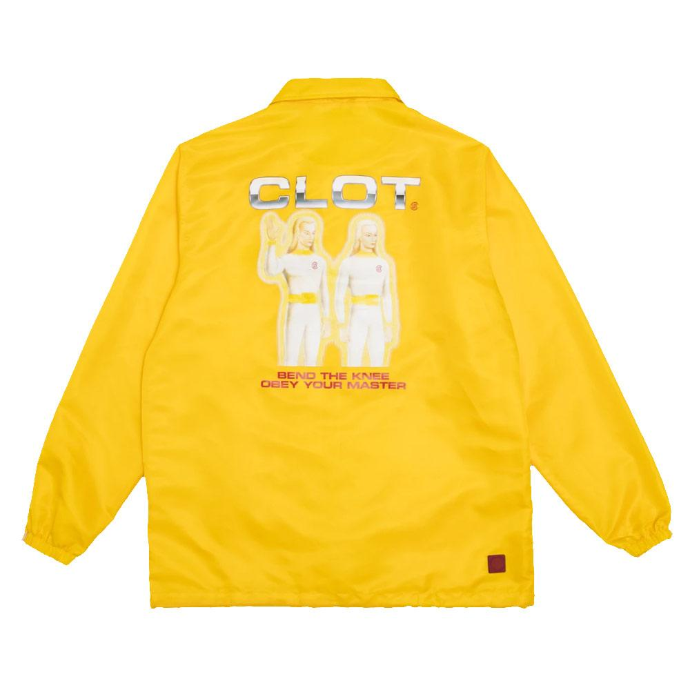 Yellow Obey Your Master Coach Jacket
