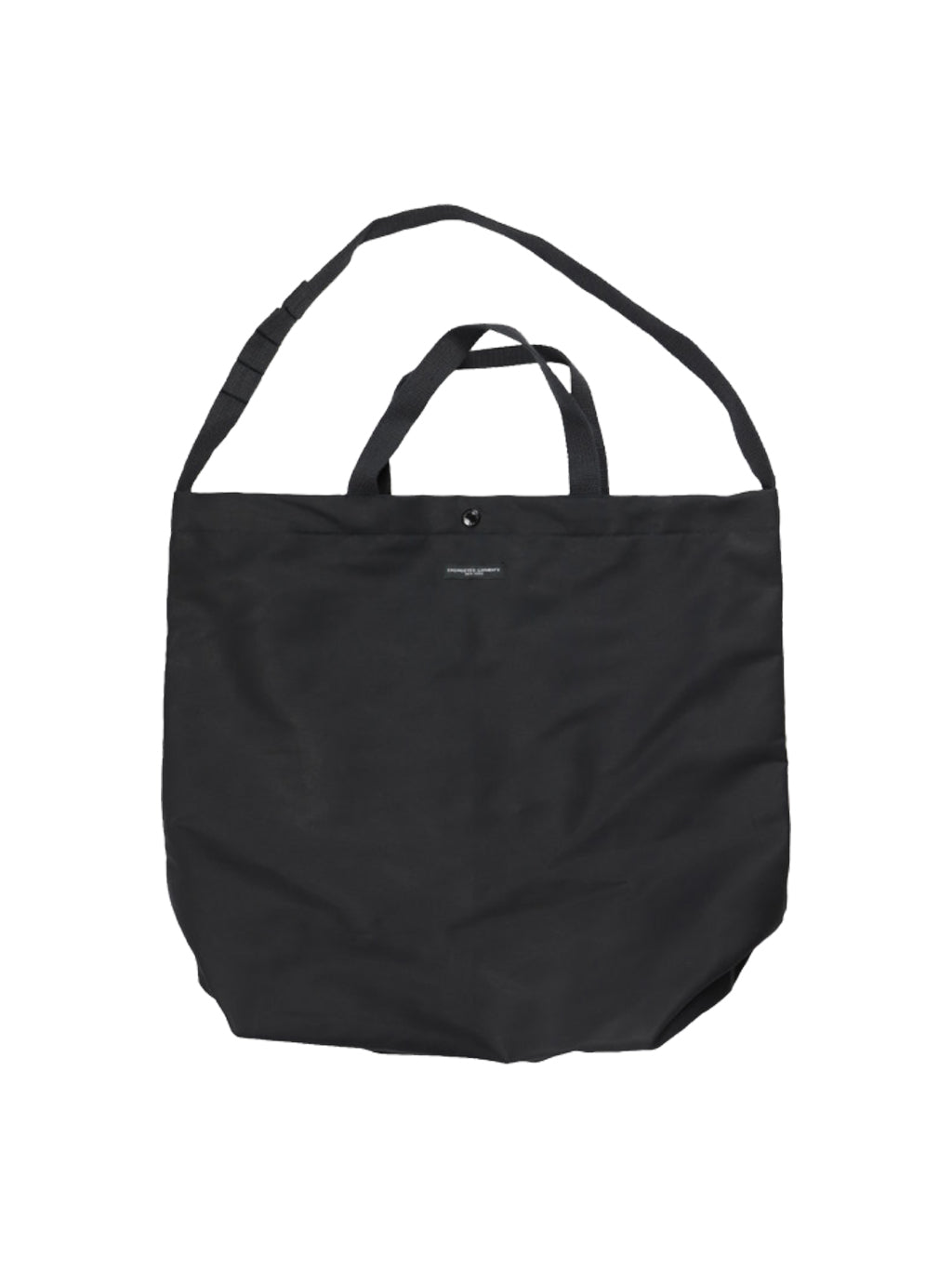 Black Double Cloth Carry All Tote