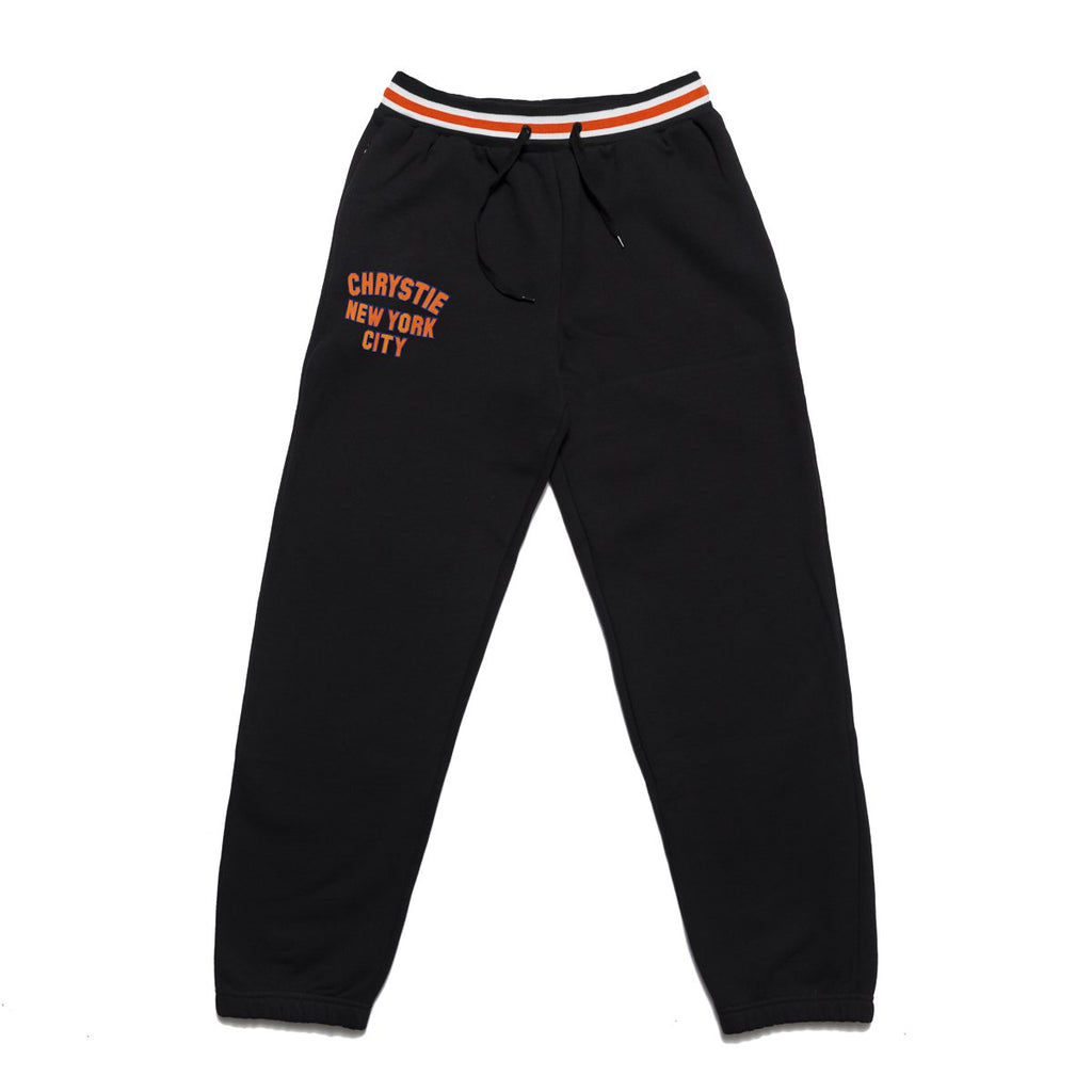 Black Varsity Logo Sweatpants