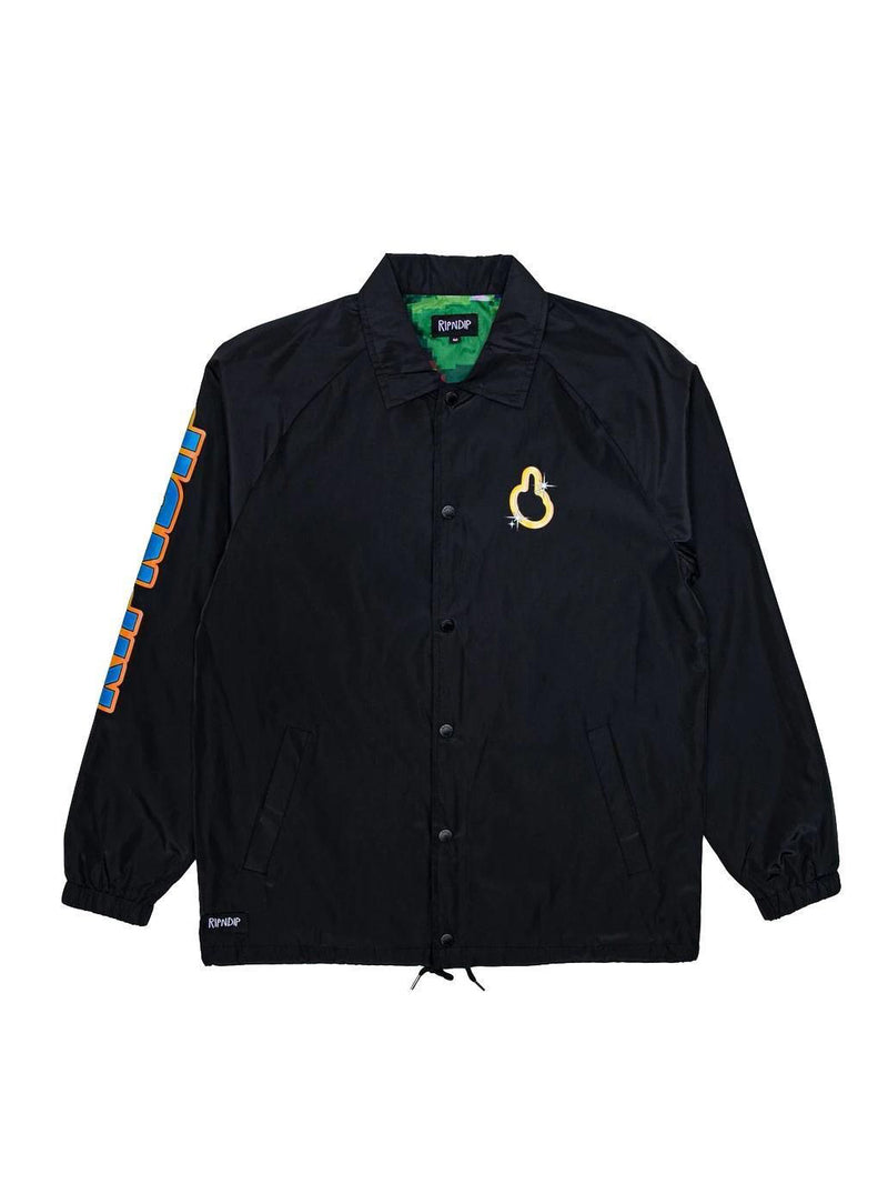 Black Nermhog Coach Jacket