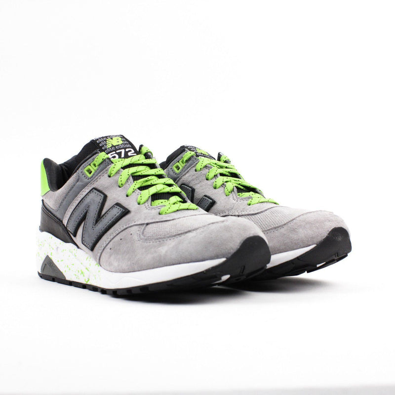 Gray & Green New Balance Shoes