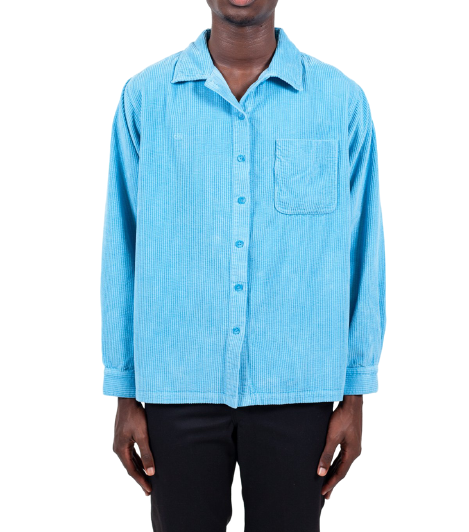 Blue Corduroy Long sleeve Shirt