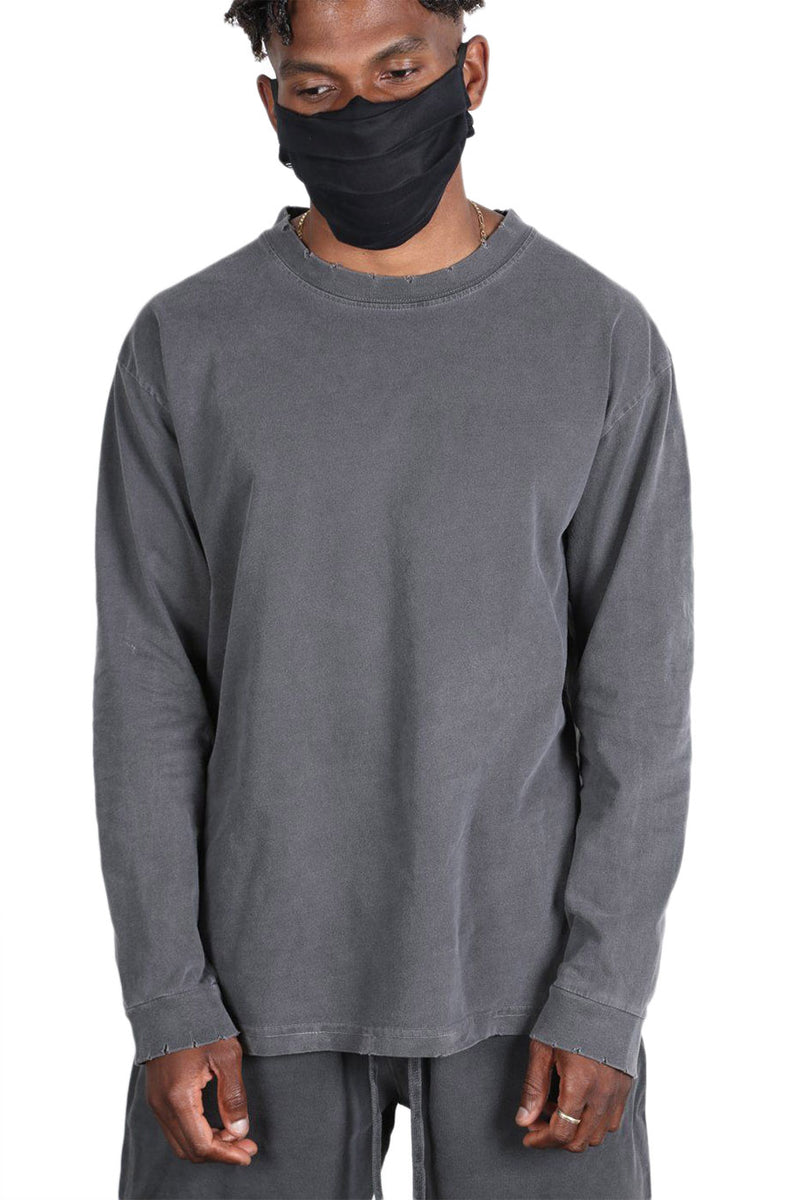 Grey Lightweight Long Sleeve T-Shirt
