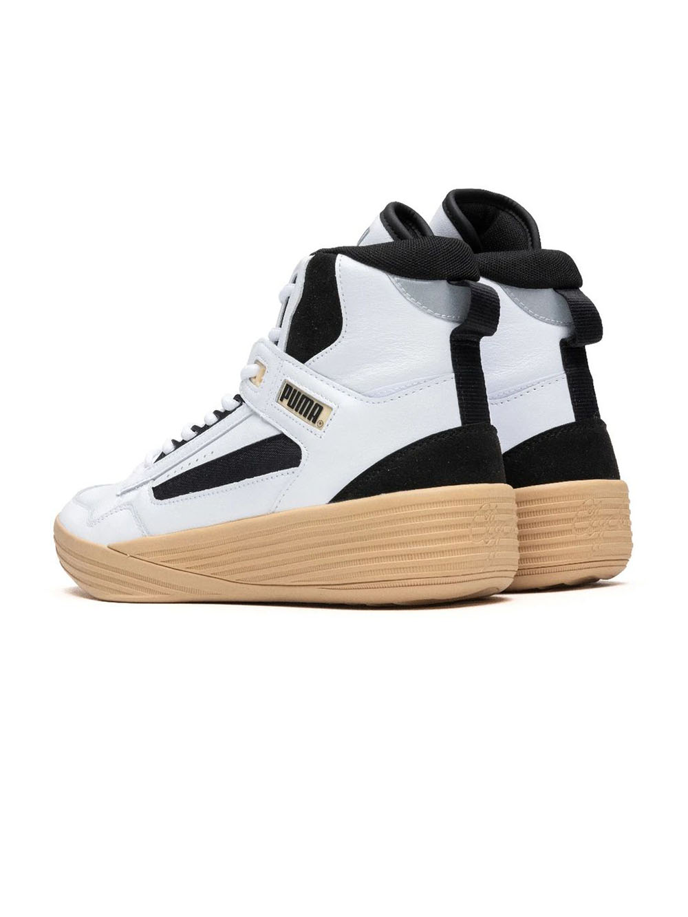 White & Black x RHUDE x Kuzma Clyde All-Pro Mid Sneakers