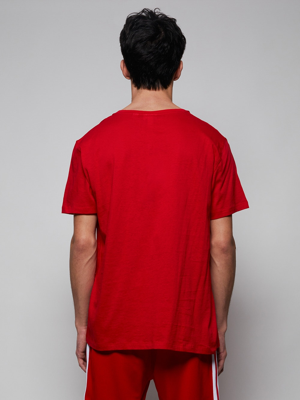 Red x Ricky Regal Loose Neck Print Cotton T-Shirt