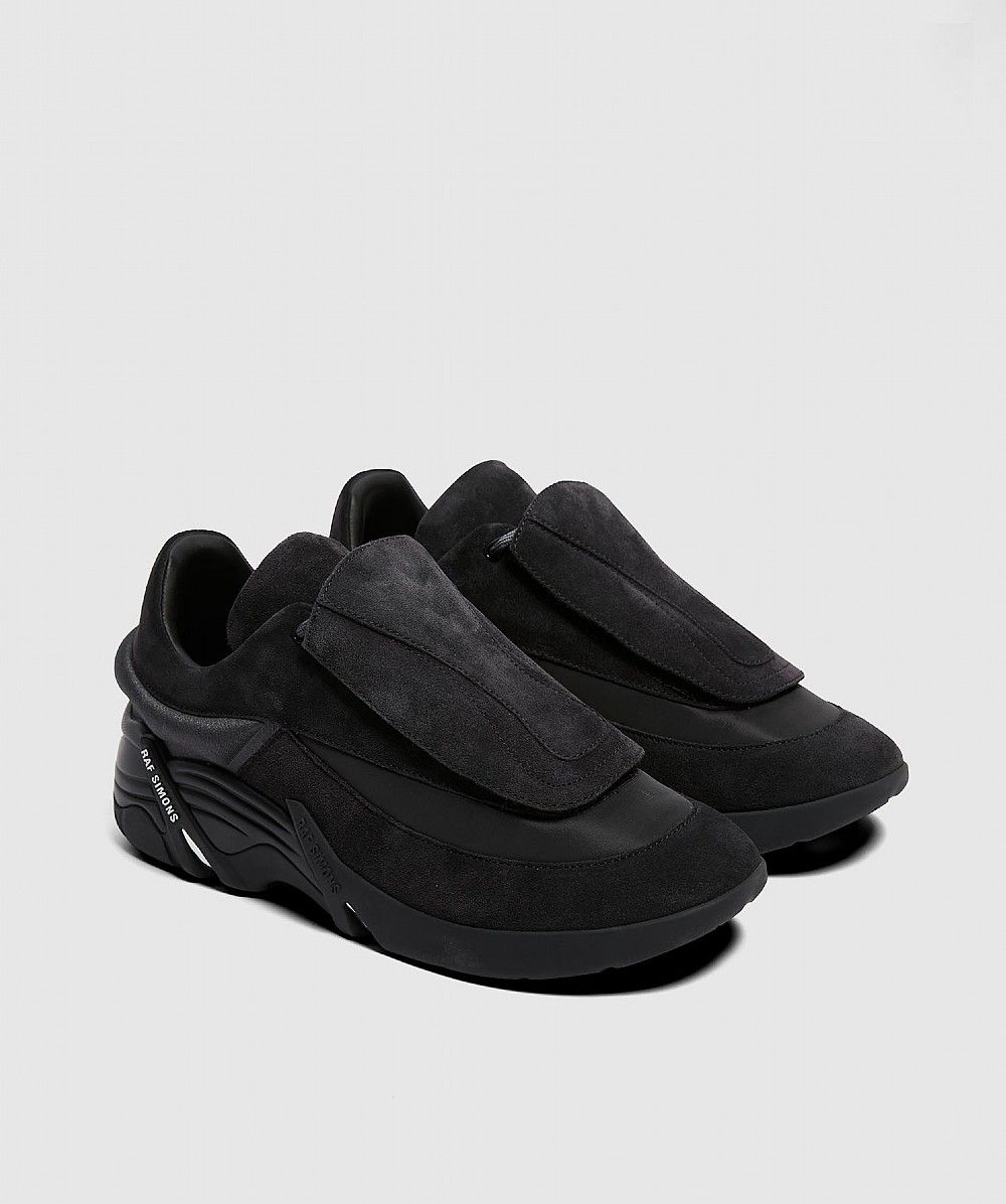 Black or Purple Antei Suede Running Sneakers