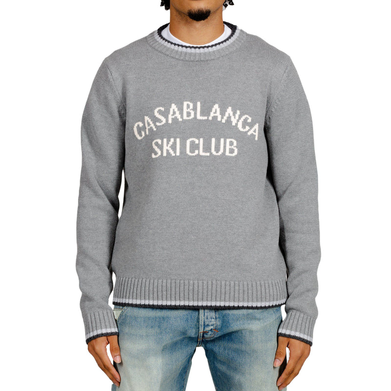 Grey Ski Club Knit Sweater