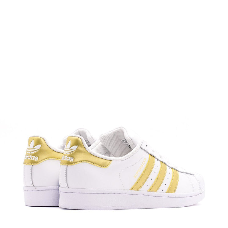 White & Gold Originals Superstar Junior Shoes