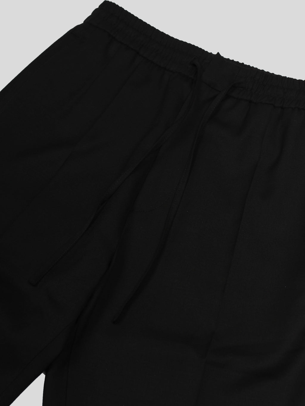 Black Stan Elasticized Waist Trouser