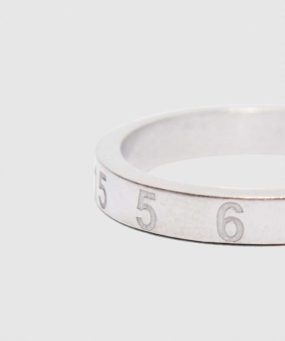 Silver Palladio Numbers Ring