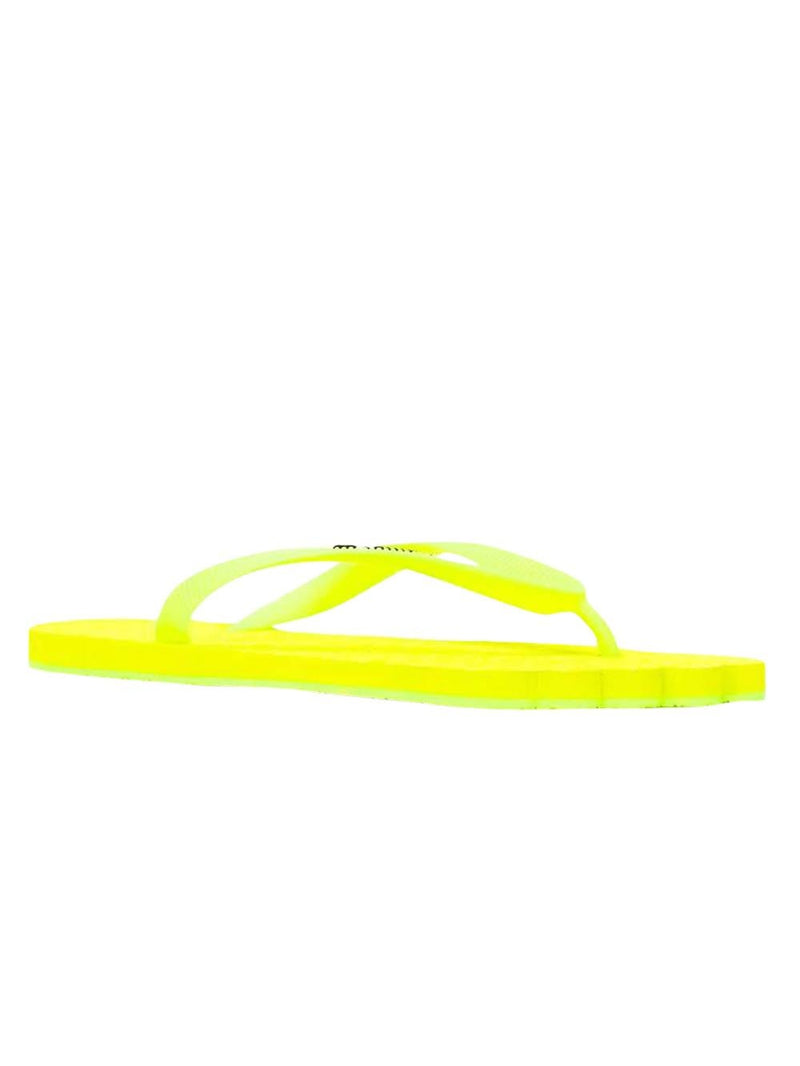 Fluorescent Yellow Anatomic Logo Flip Flops