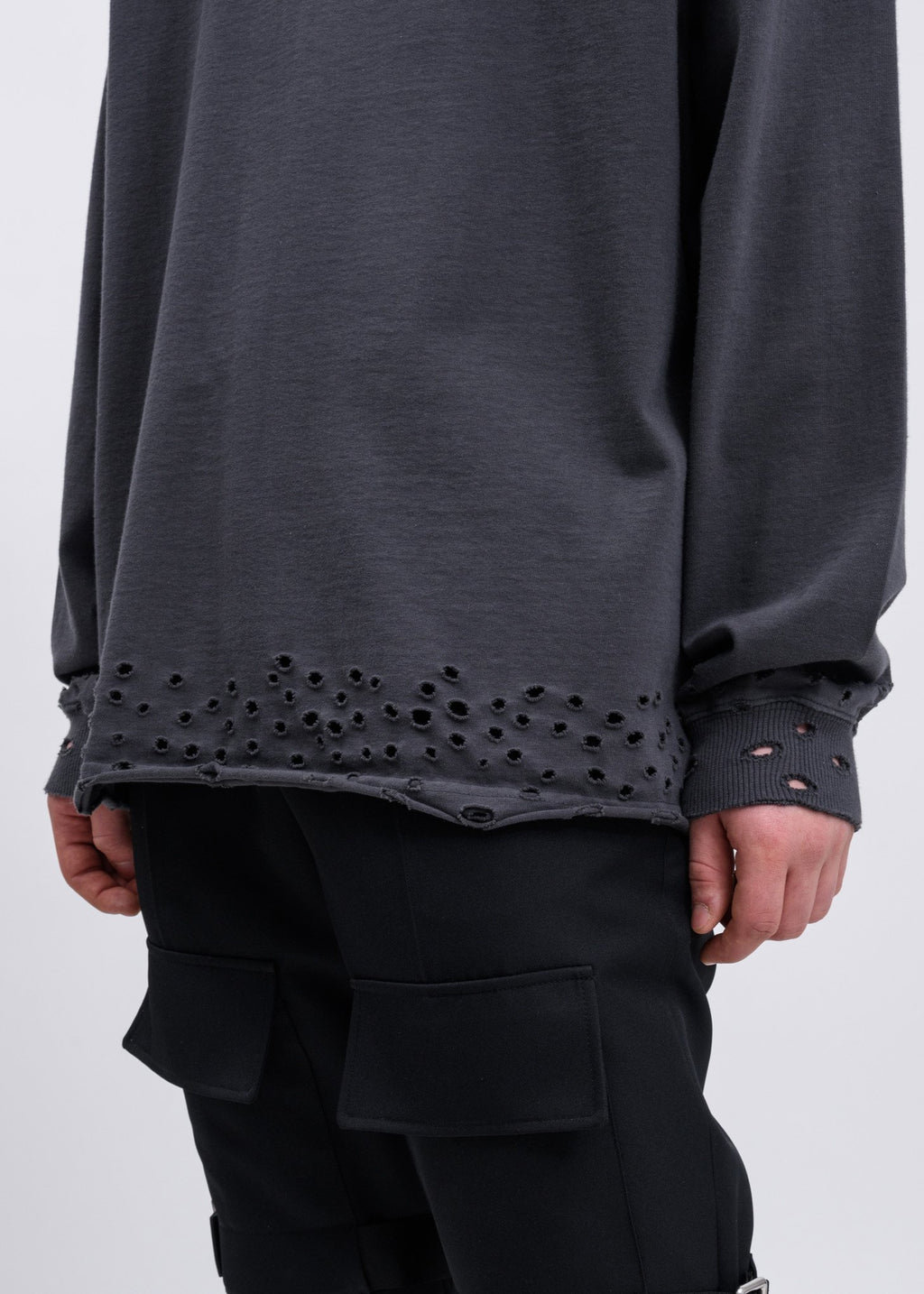 Charcoal High Neck WD Logo Sweater