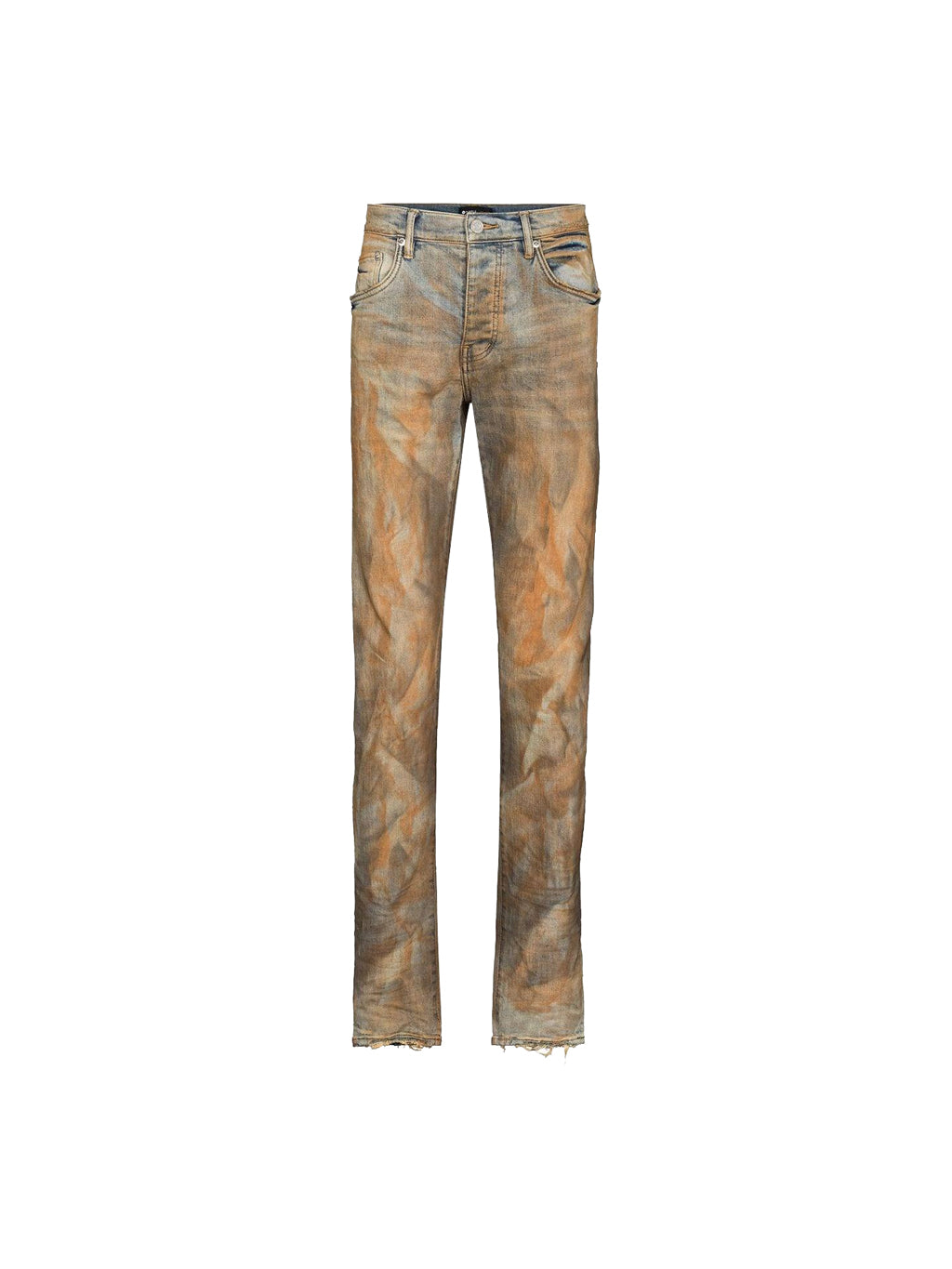 Rust Indigo Dirty Resin Denim Pants