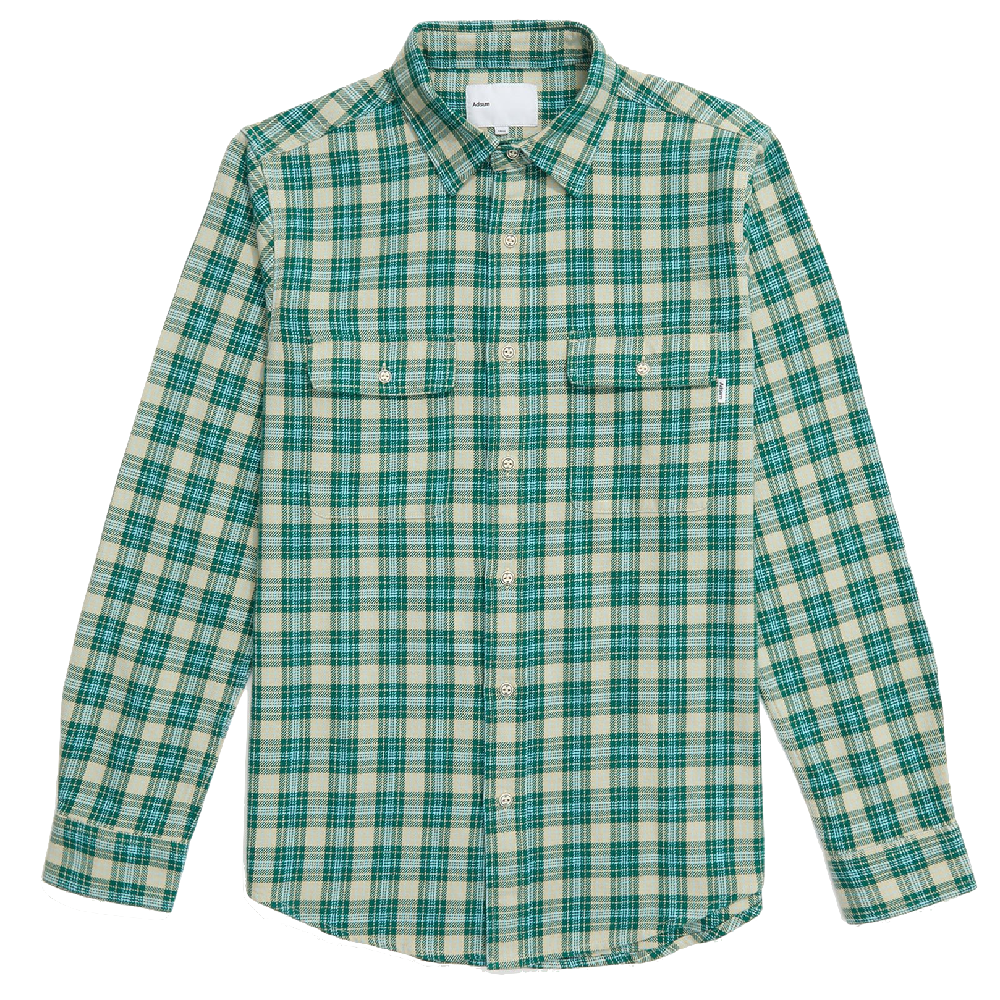 Green or Brown Plaid Work Shirt