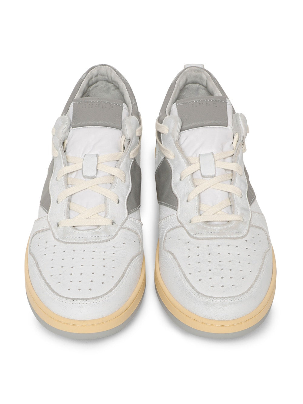 White & Gray Rhecess Low Top Sneakers