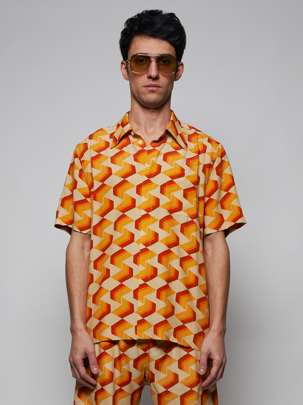 Multi x Ricky Regal Relaxed Fit Patterned Shirt