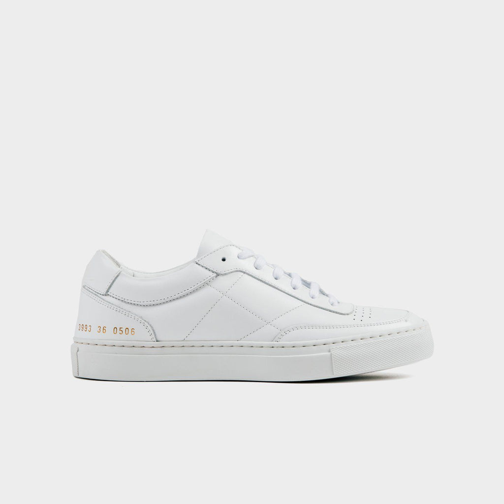 White Bball Leather Low Sneakers