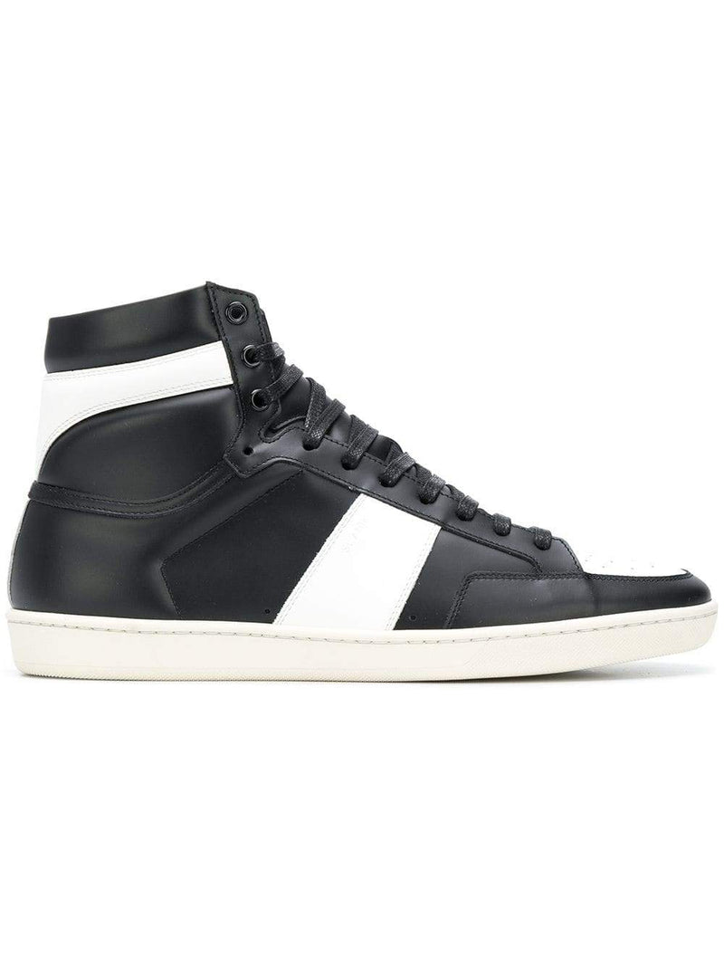 Black and White Court Classic High-Top Sneaker
