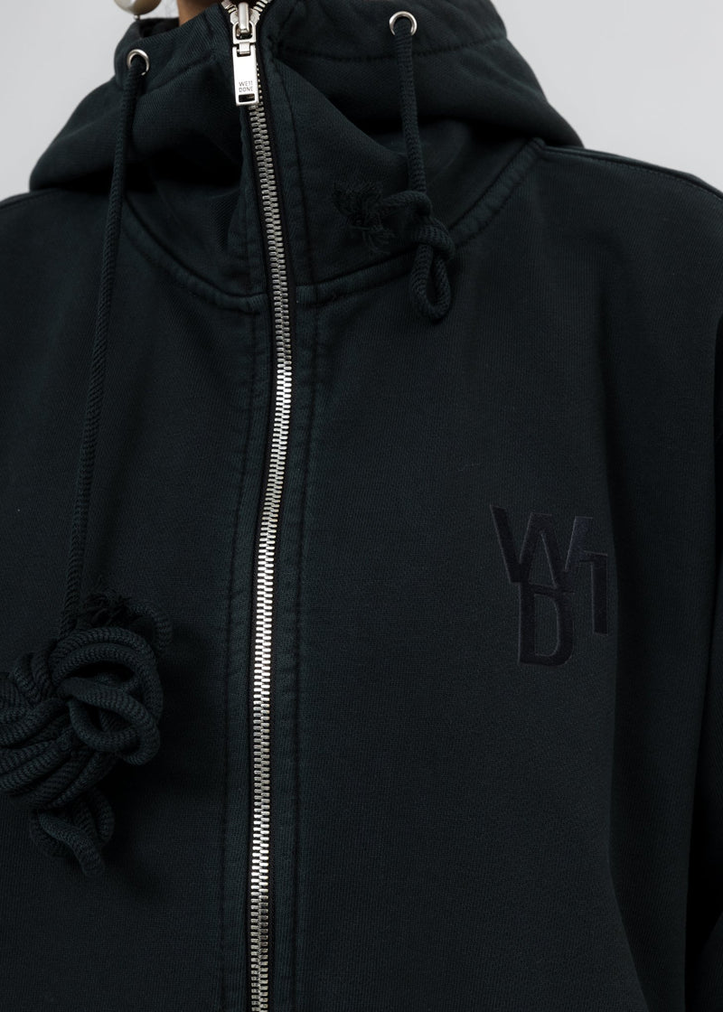 Black Teddy Zip Up Hoodie