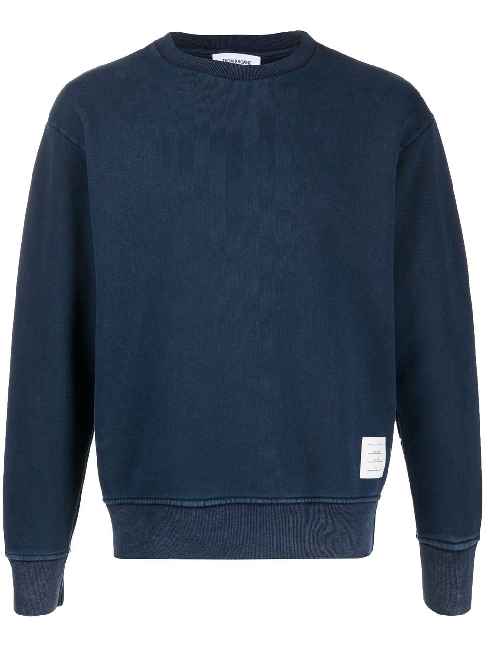 Navy Garment Dyed Crewneck Sweatshirt
