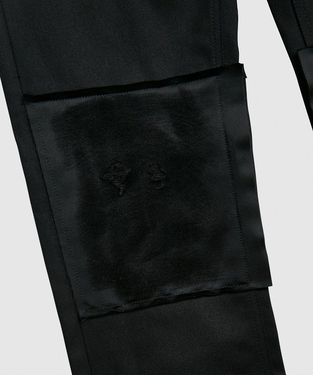 Black Knee Patch Jeans