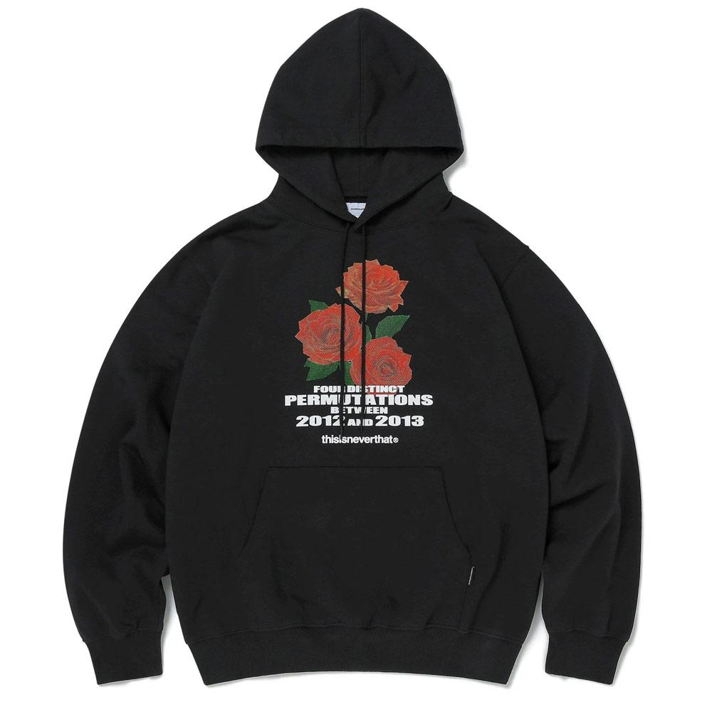 Black Rose Hooded Sweatshirt