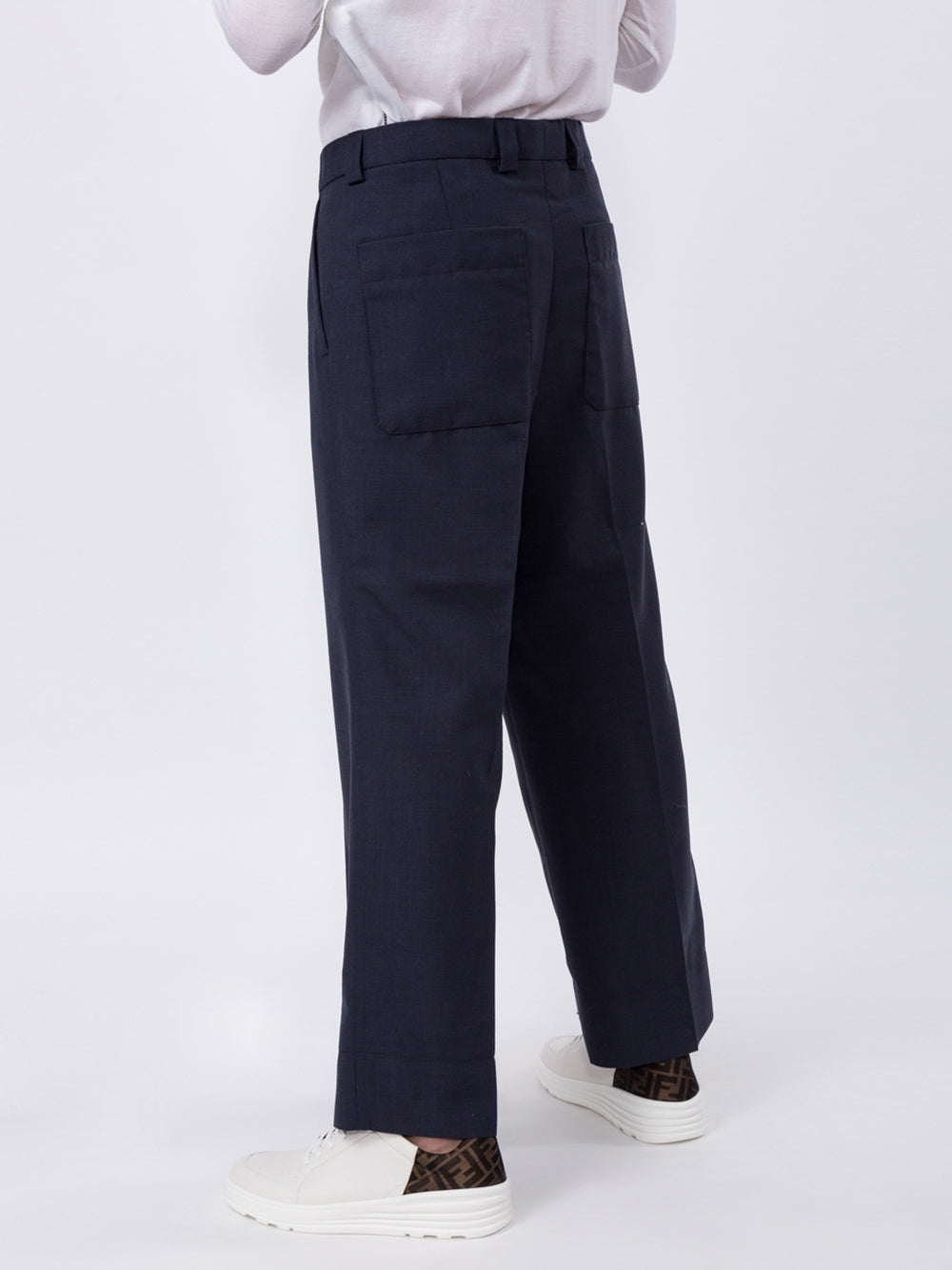 Navy Le Camille Wide Leg Pants