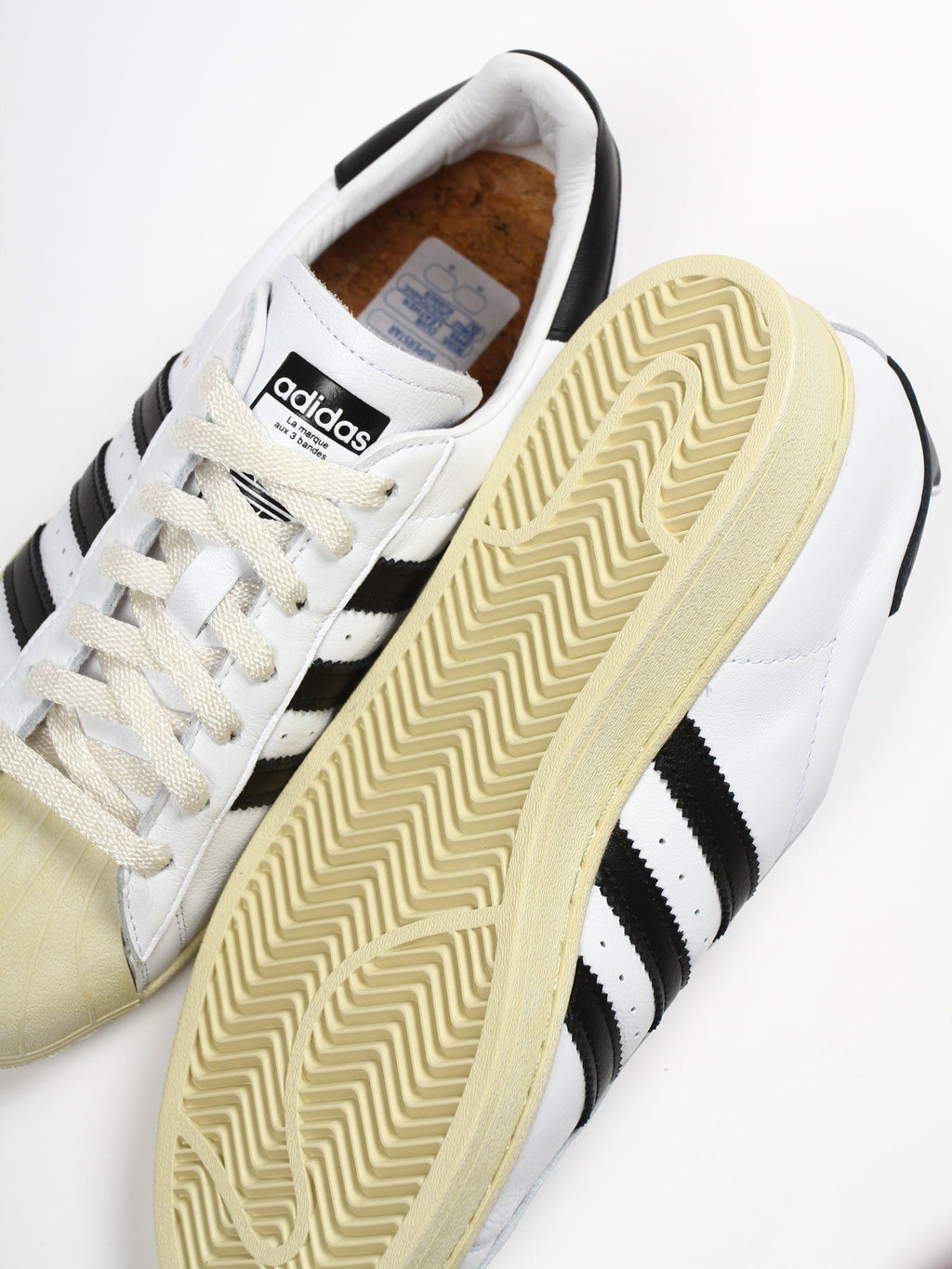 White & Black Superstar Sneakers