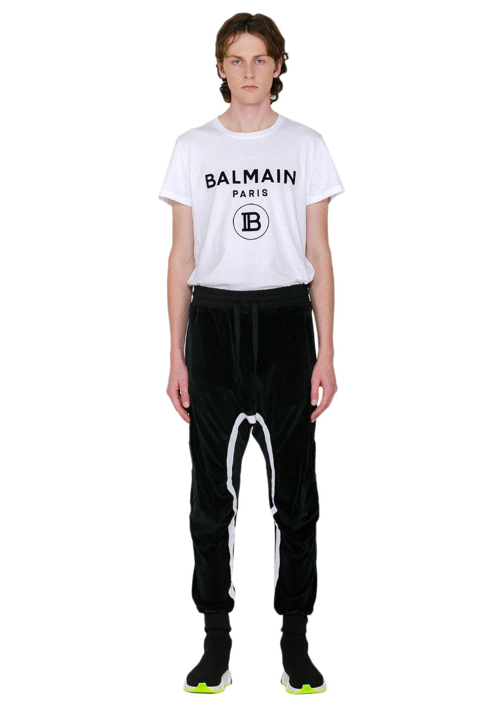 Black Moonshape Jogging Pants