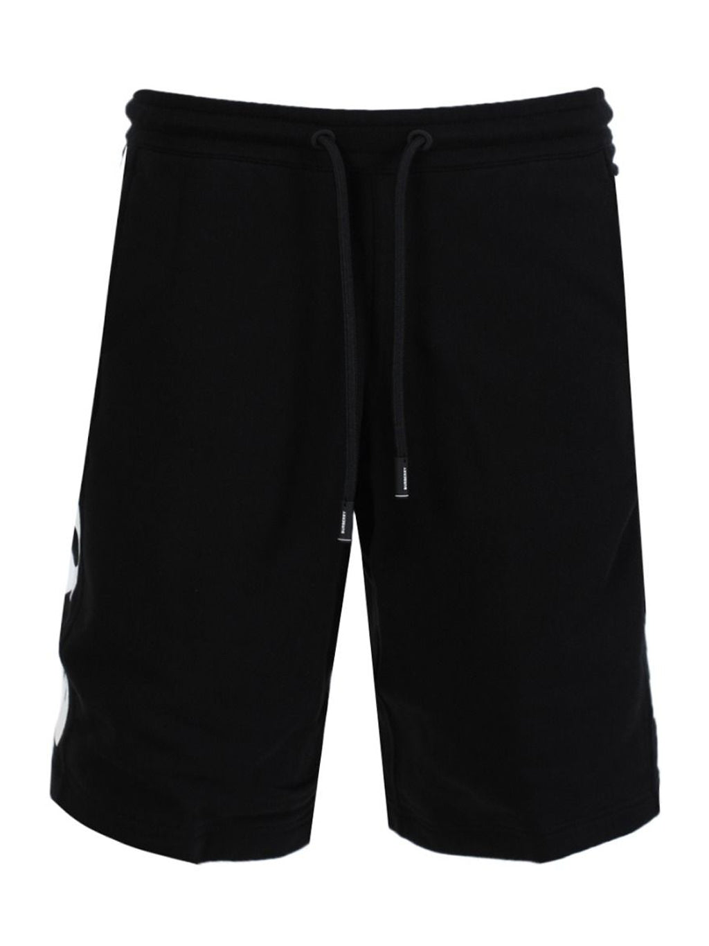 Black Logo Print Drawcord Shorts